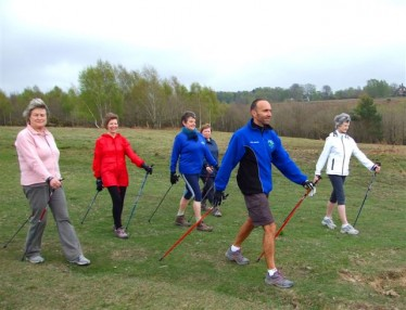 Image of a Nordic Walking group at Ashdown Forest