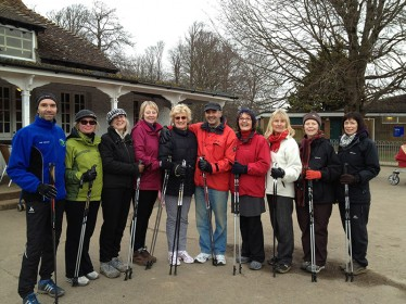Image of a Nordic Healthwalks Course Group