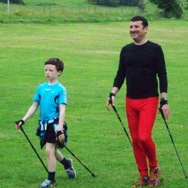 Image of Steven & Hamish Nordic Walking