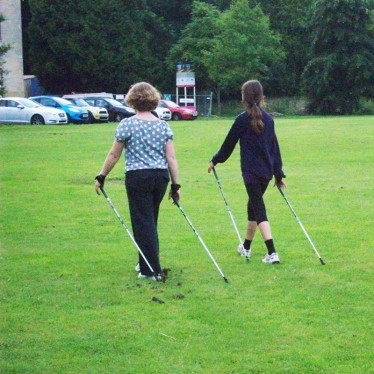 Image of Michelle and Masie Nordic Walking