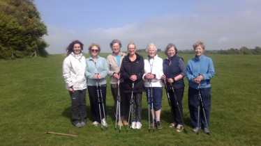 Nordic walking in Stanmer Park, Brighton