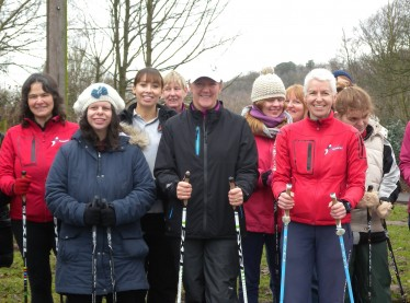 Clare Balding Nordic walks for her health
