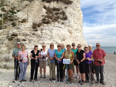 Nordic walking at Cuckmere Haven