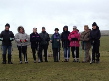 Nordic walking on the South Downs