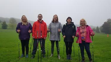 Loca Health Trainers get a taste of Nordic walking - Stanmer Park, Brighton