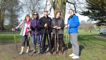 Nordic walking course, Hove Park, Brighton & Hove - March 2018