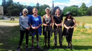 Nordic walking in Stanmer Park, Brighton & Hove