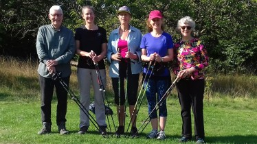 Exercise Nordic Walks - Stanmer Park, Brighton, August 2018