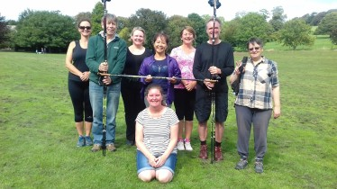 We've reached the Health level of Nordic walking technique - September 2018, Stanmer Park
