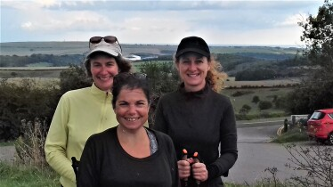 Fitness level Nordic walking achieved by under 60s course - Ditchling Beacon, September 2017